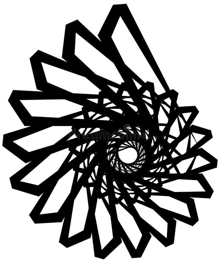 Download Геометрическая круговая спираль Абстрактная угловая, нервная форма в Rotat Иллюстрация вектора - иллюстрации насчитывающей наконечников, свободно: 81808942