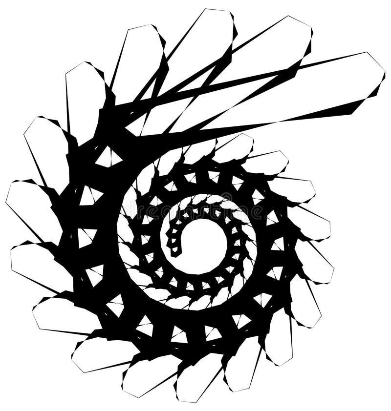 Download Геометрическая круговая спираль Абстрактная угловая, нервная форма в Rotat Иллюстрация вектора - иллюстрации насчитывающей helix, curlicue: 81808948