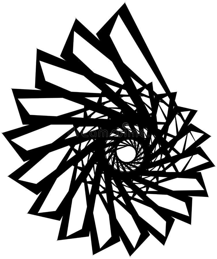 Download Геометрическая круговая спираль Абстрактная угловая, нервная форма в Rotat Иллюстрация вектора - иллюстрации насчитывающей центростремительно, радиально: 81809002