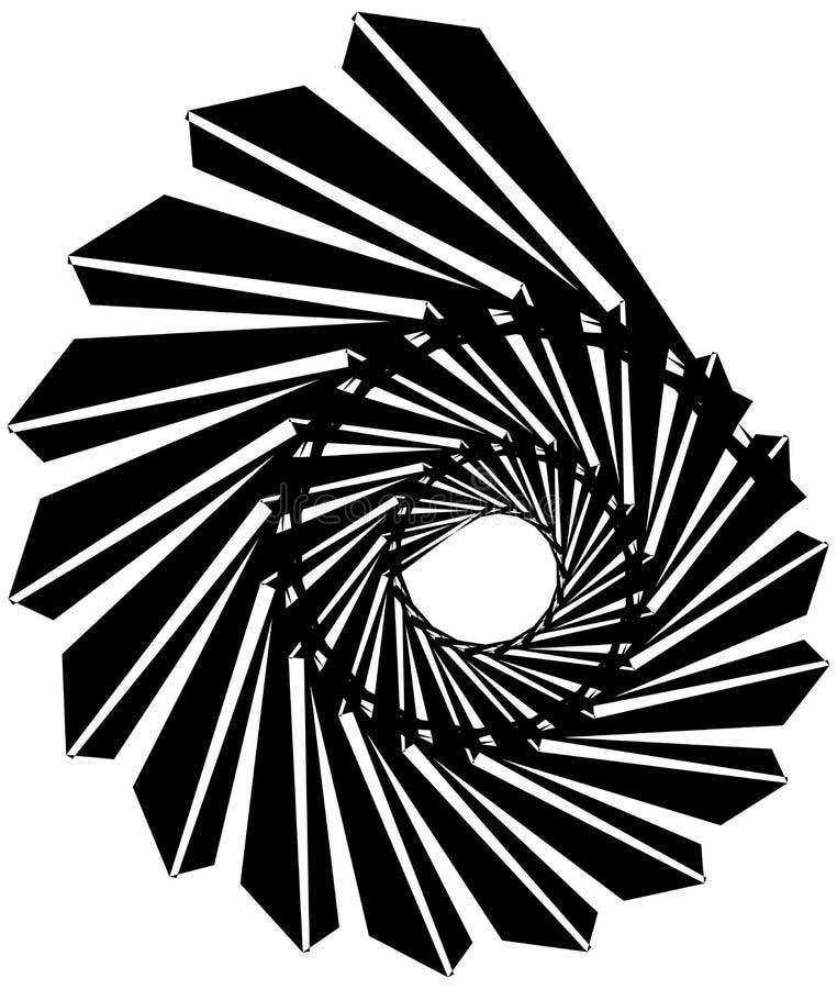 Download Геометрическая круговая спираль Абстрактная угловая, нервная форма в Rotat Иллюстрация вектора - иллюстрации насчитывающей периодическо, monochrome: 81809020