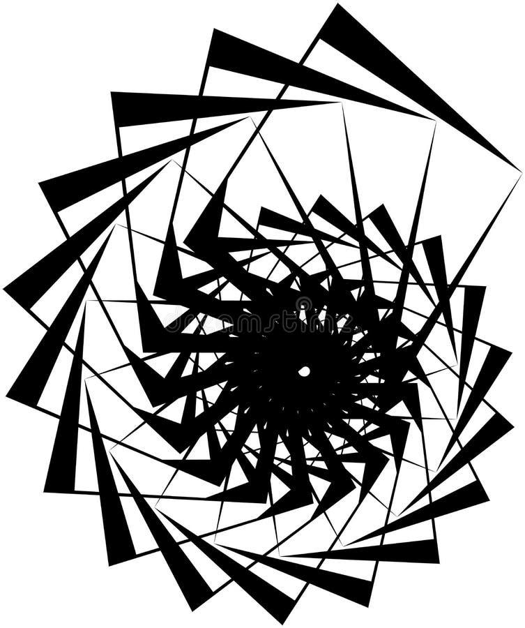 Download Геометрическая круговая спираль Абстрактная угловая, нервная форма в Rotat Иллюстрация вектора - иллюстрации насчитывающей конспектов, наконечников: 81809031