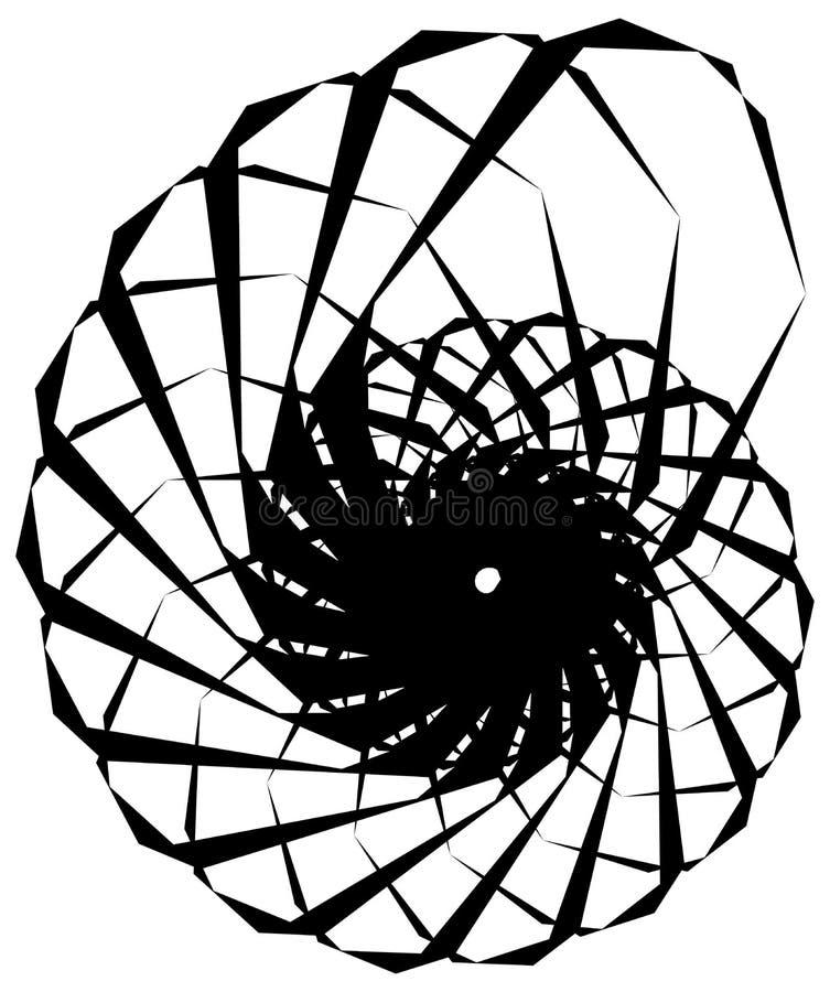Download Геометрическая круговая спираль Абстрактная угловая, нервная форма в Rotat Иллюстрация вектора - иллюстрации насчитывающей вихрь, иллюзорно: 81809040