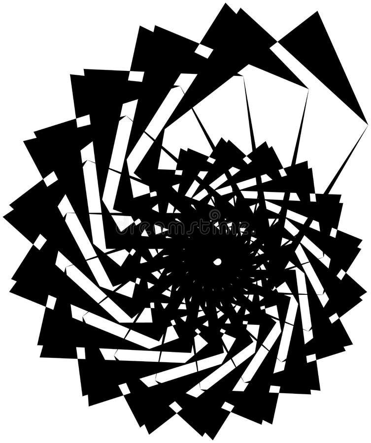 Download Геометрическая круговая спираль Абстрактная угловая, нервная форма в Rotat Иллюстрация вектора - иллюстрации насчитывающей вихрь, свободно: 81809084