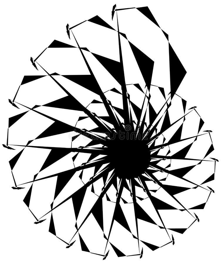 Download Геометрическая круговая спираль Абстрактная угловая, нервная форма в Rotat Иллюстрация вектора - иллюстрации насчитывающей искажение, ангидрина: 81809117