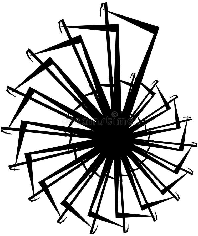 Download Геометрическая круговая спираль Абстрактная угловая, нервная форма в Rotat Иллюстрация вектора - иллюстрации насчитывающей центростремительно, элемент: 81809124