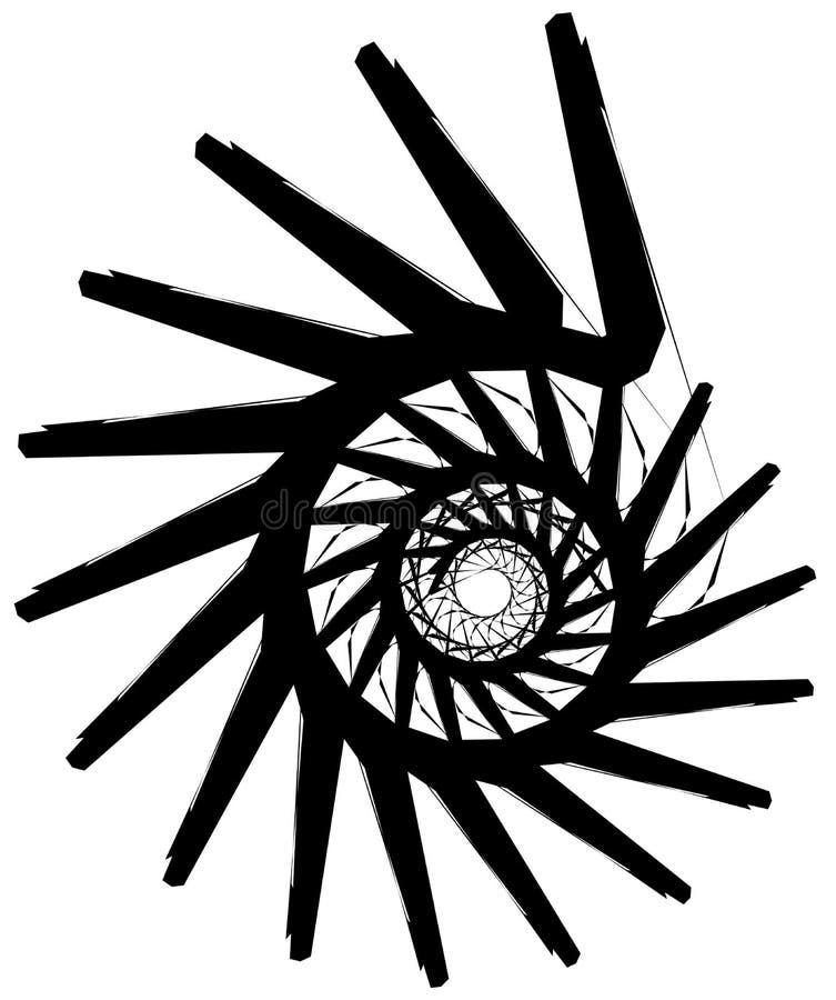Download Геометрическая круговая спираль Абстрактная угловая, нервная форма в Rotat Иллюстрация вектора - иллюстрации насчитывающей периодическо, способ: 81809143