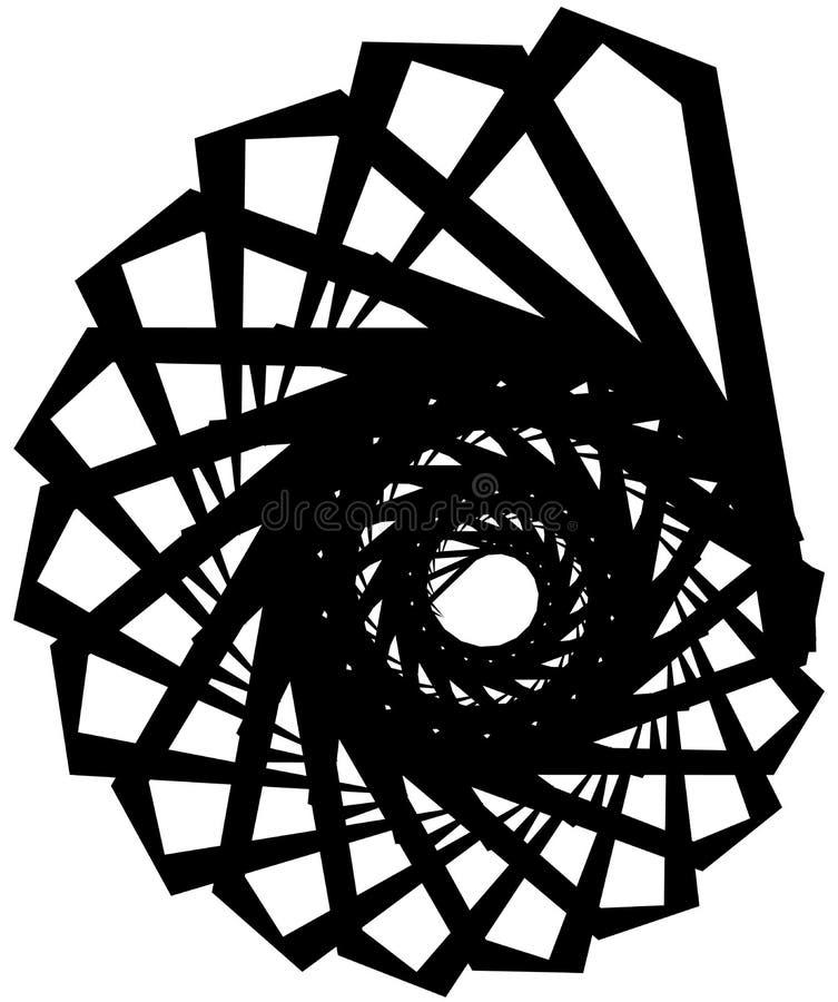 Download Геометрическая круговая спираль Абстрактная угловая, нервная форма в Rotat Иллюстрация вектора - иллюстрации насчитывающей разносторонне, способ: 81809165