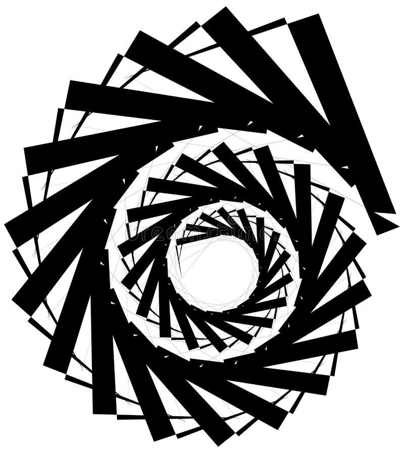 Download Геометрическая круговая спираль Абстрактная угловая, нервная форма в Rotat Иллюстрация вектора - иллюстрации насчитывающей периодическо, ангидрина: 81809181