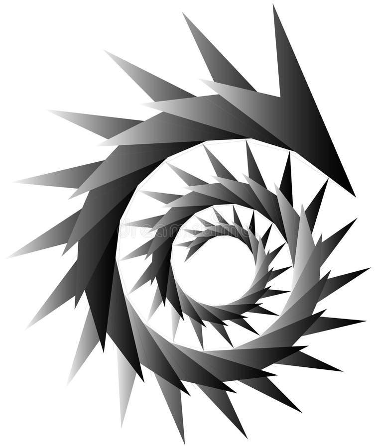 Download Геометрическая круговая спираль Абстрактная угловая, нервная форма в Rotat Иллюстрация вектора - иллюстрации насчитывающей способ, разносторонне: 81809227
