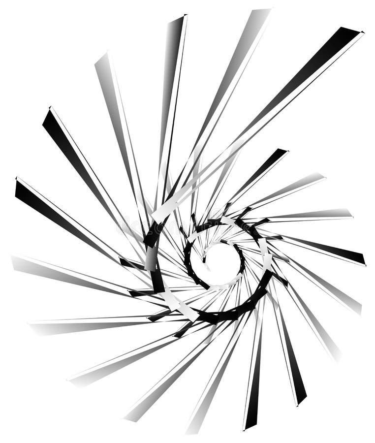 Download Геометрическая круговая спираль Абстрактная угловая, нервная форма в Rotat Иллюстрация вектора - иллюстрации насчитывающей искажение, линии: 81809228