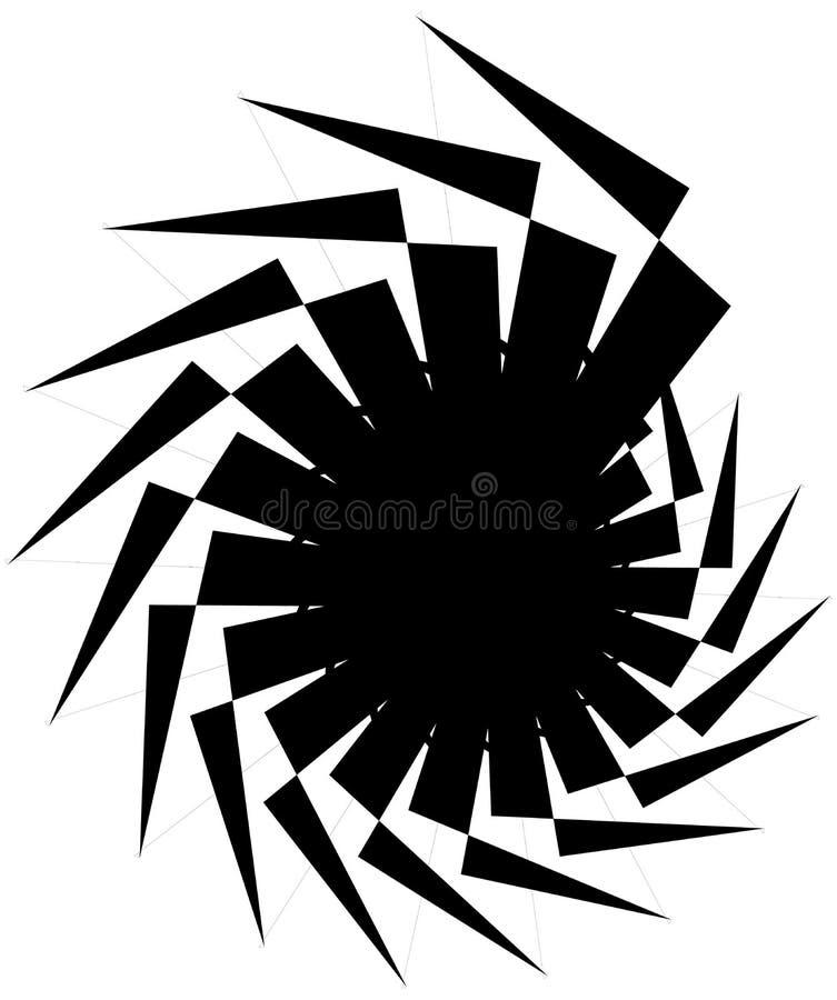 Download Геометрическая круговая спираль Абстрактная угловая, нервная форма в Rotat Иллюстрация вектора - иллюстрации насчитывающей центробежно, искажение: 81809552
