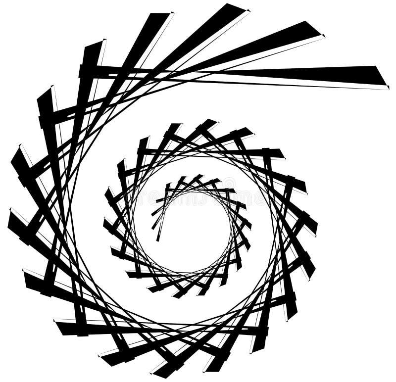 Download Геометрическая круговая спираль Абстрактная угловая, нервная форма в Rotat Иллюстрация вектора - иллюстрации насчитывающей кругово, helix: 81809559