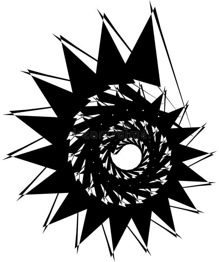 Download Геометрическая круговая спираль Абстрактная угловая, нервная форма в Rotat Иллюстрация вектора - иллюстрации насчитывающей минимально, график: 81809577