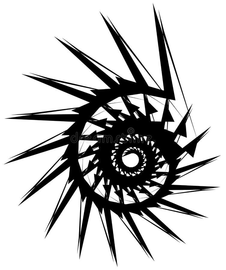 Download Геометрическая круговая спираль Абстрактная угловая, нервная форма в Rotat Иллюстрация вектора - иллюстрации насчитывающей искажение, наконечников: 81809580
