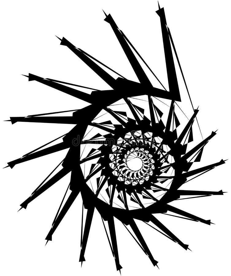 Download Геометрическая круговая спираль Абстрактная угловая, нервная форма в Rotat Иллюстрация вектора - иллюстрации насчитывающей ангидрина, helix: 81809591
