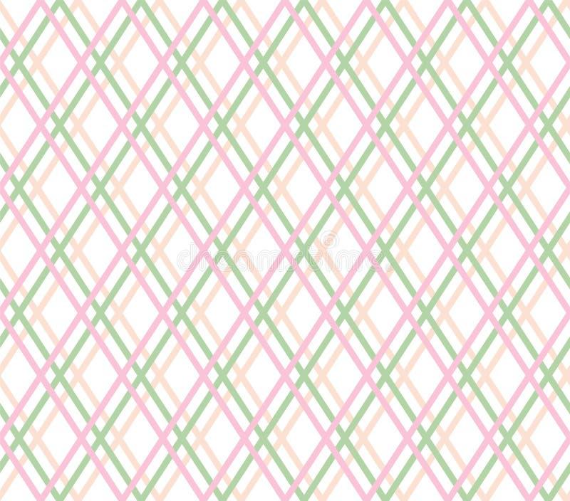 Геометрическая предпосылка, безшовные, тонкие розовые линии, диаманты, вектор иллюстрация штока