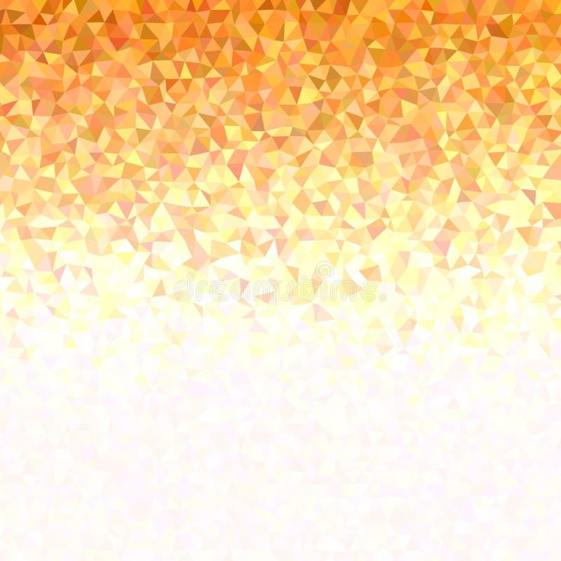 Геометрическая предпосылка картины треугольника градиента в оранжевых тонах иллюстрация вектора