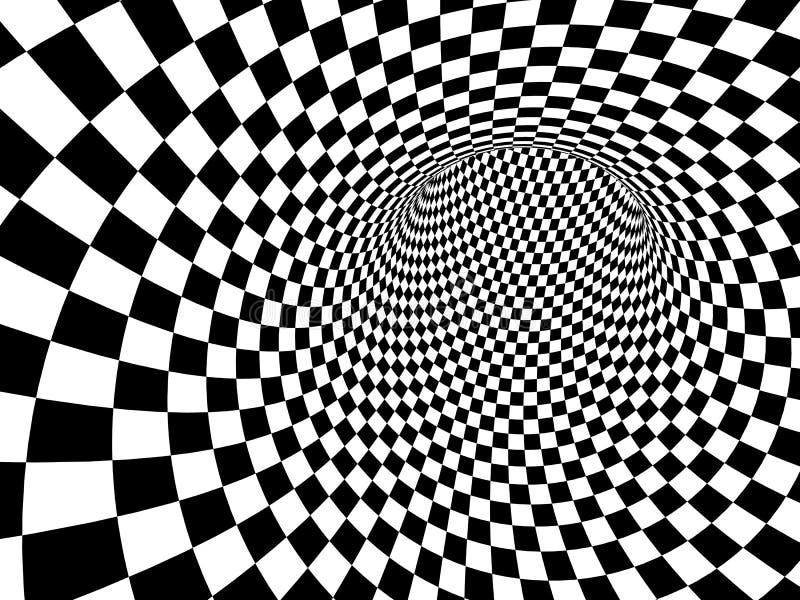 Геометрическая предпосылка с checkered текстурой черно-белых цветов иллюстрация вектора