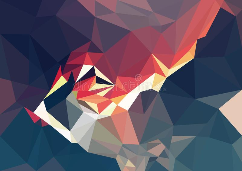 Геометрическая предпосылка цвета иллюстрация штока