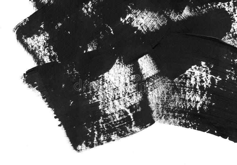 Геометрическая предпосылка конспекта граффити Обои с влиянием акварели масла Черная текстура хода акрила дальше стоковое фото
