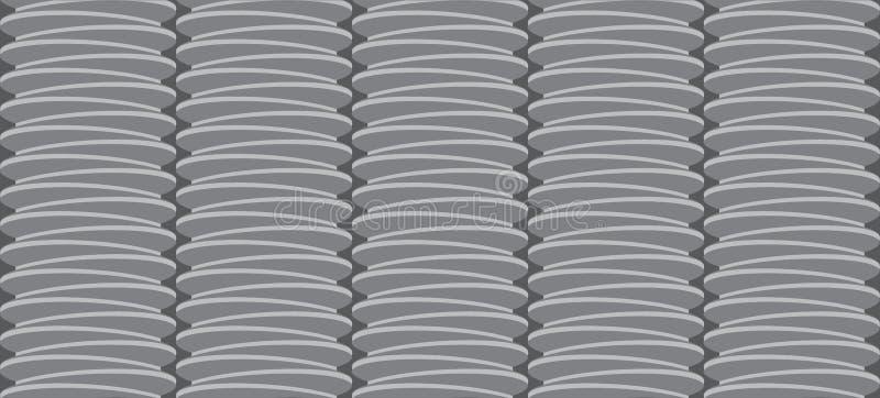 Геометрическая серая предпосылка со спиральной картиной бесплатная иллюстрация