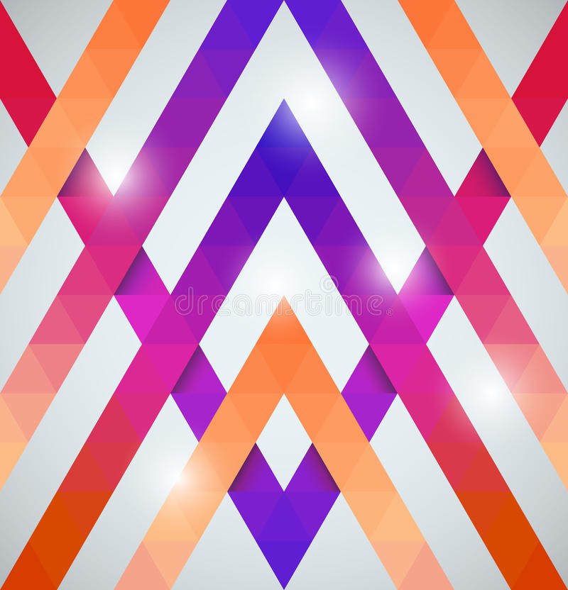 Download Геометрическая сияющая картина с треугольниками Иллюстрация вектора - иллюстрации насчитывающей партия, элемент: 37929476