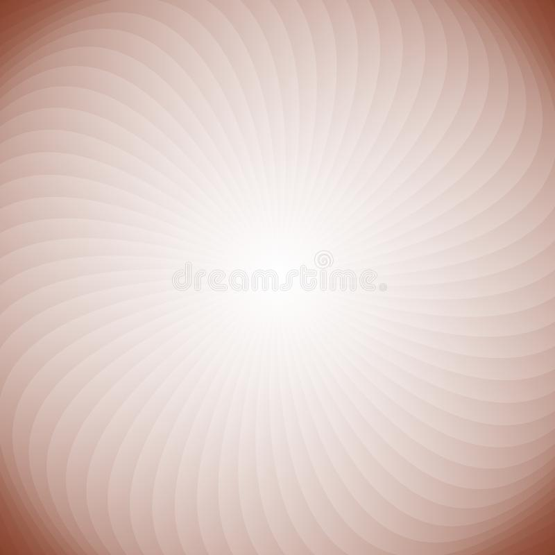 Геометрическая спиральная предпосылка от вращая лучей иллюстрация вектора