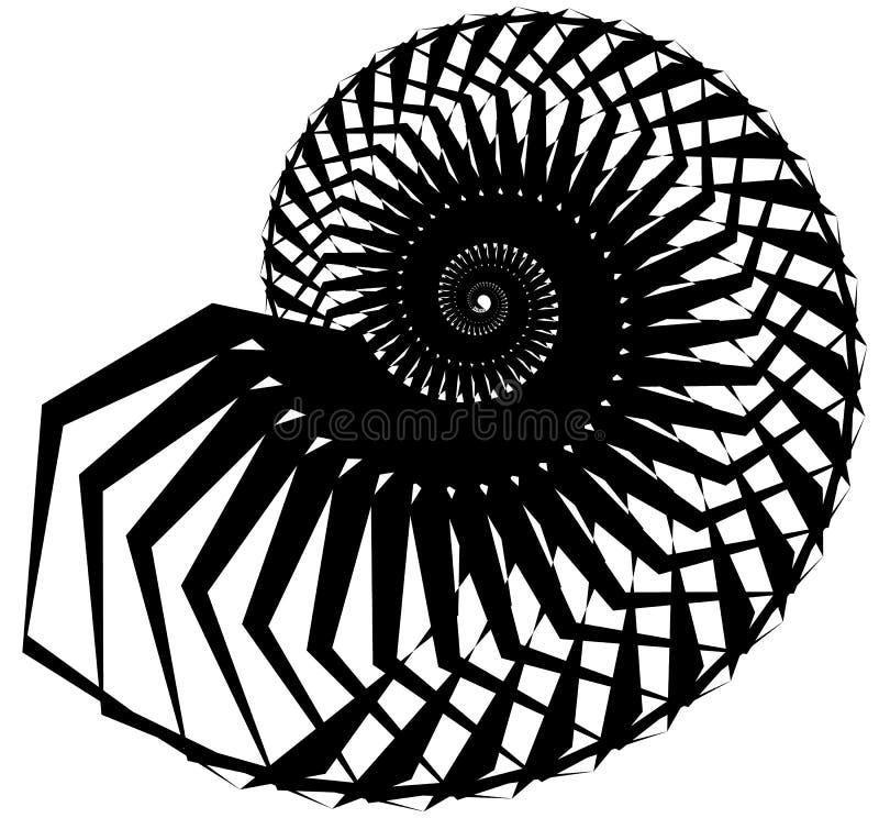 Download Геометрическая, угловая улитка, винтовая линия, элемент волюты изолированный на Whit Иллюстрация вектора - иллюстрации насчитывающей роторно, вихрь: 81804763