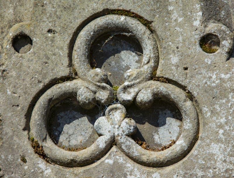 Геометрическая форма высекаенная на фонтане Dunkeld стоковые фотографии rf