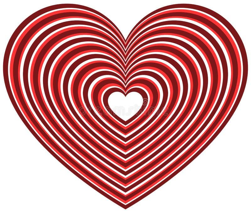 Download Геометрическая форма сердца контура Иллюстрация вектора - иллюстрации насчитывающей замужество, royalty: 81801917