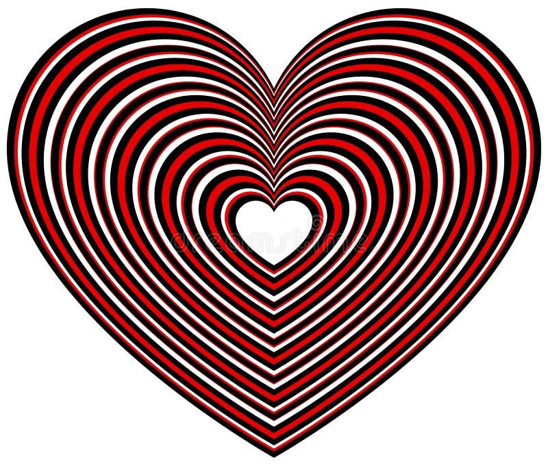 Download Геометрическая форма сердца контура Иллюстрация вектора - иллюстрации насчитывающей романско, излучать: 81801922