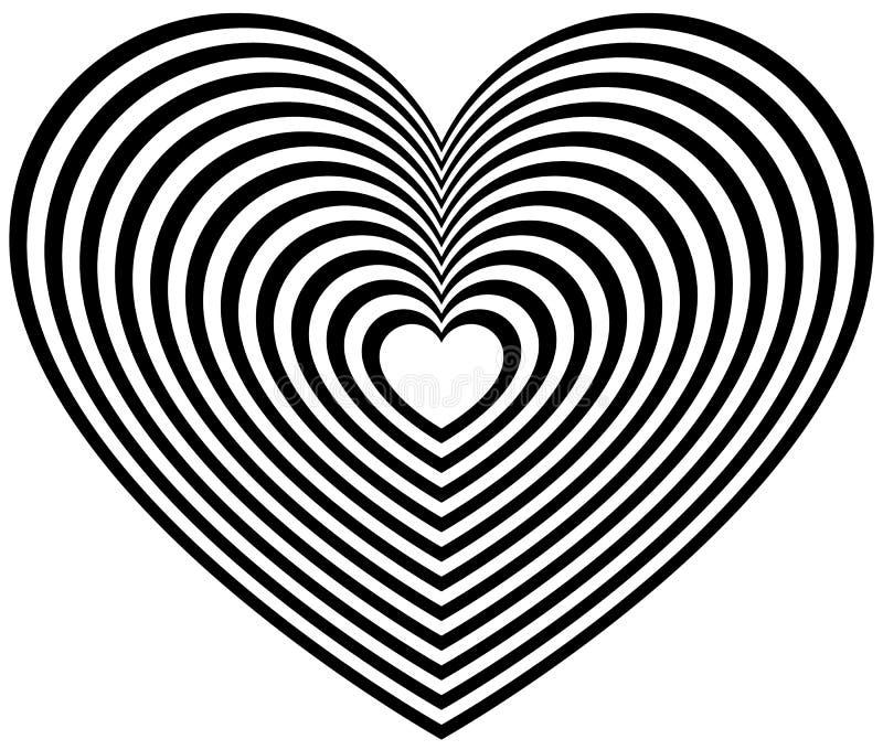 Download Геометрическая форма сердца контура Иллюстрация вектора - иллюстрации насчитывающей сердце, февраль: 81801932