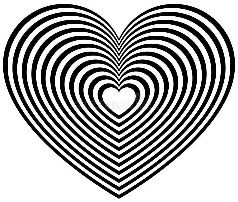 Download Геометрическая форма сердца контура Иллюстрация вектора - иллюстрации насчитывающей план, романско: 81801934