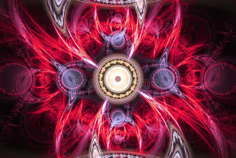 Геометрическая форма фрактали может проиллюстрировать daydreaming мечт космоса воображения картины частоты ядерного взрыва психод стоковые фотографии rf