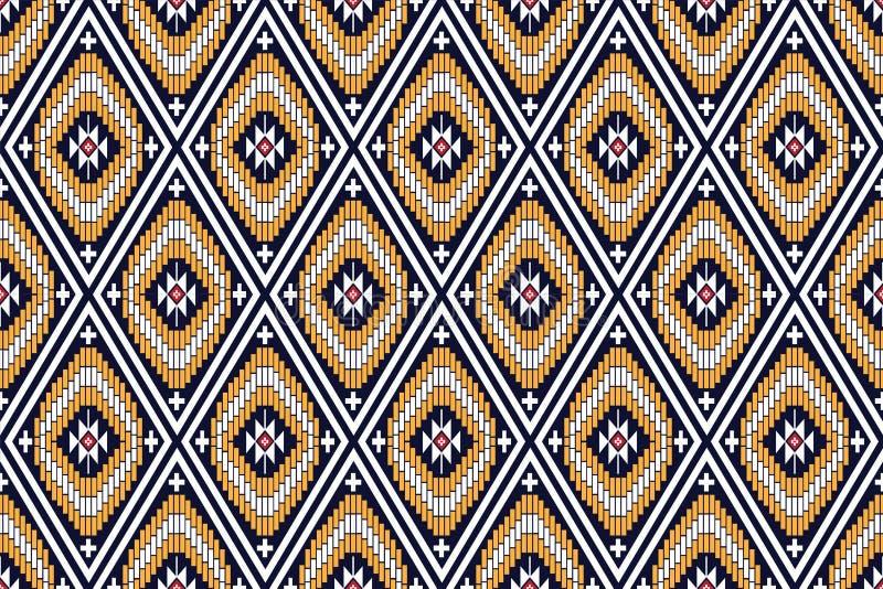 Геометрическая этническая картина стоковые изображения rf