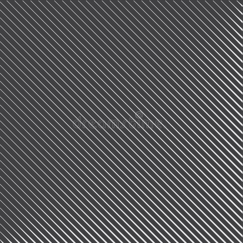 Геометрическая striped картина с непрерывными параллельными раскосными линиями на темном - серая предпосылка r иллюстрация вектора
