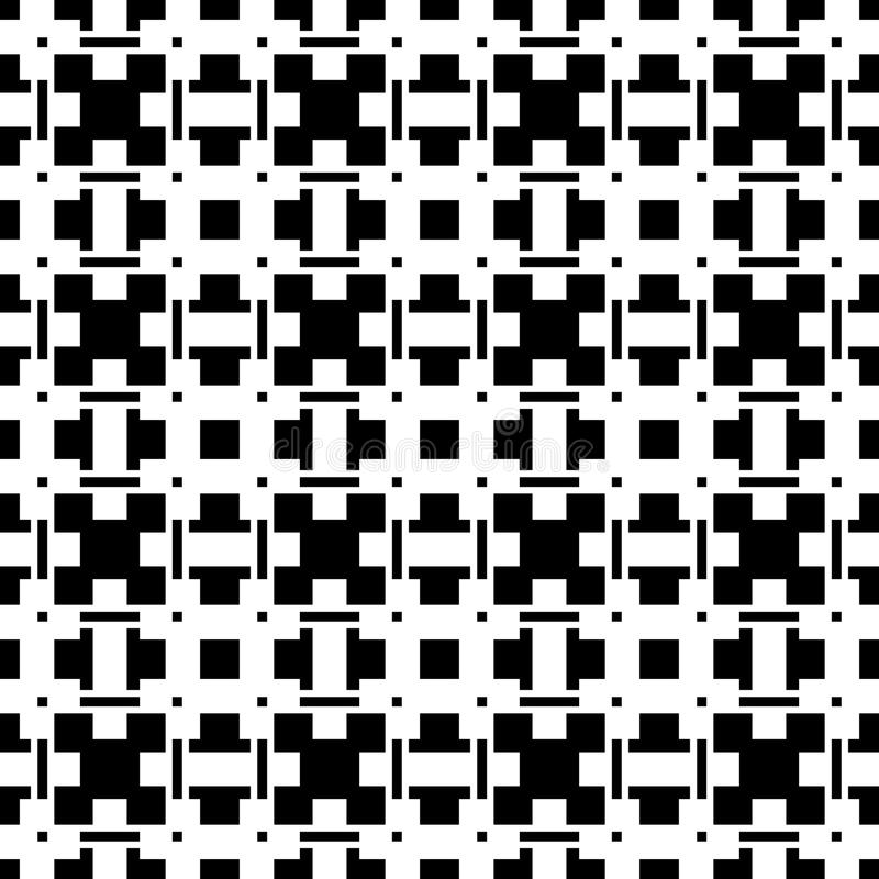 Download Геометрические абстрактные черно-белые картина/текстура Иллюстрация вектора - иллюстрации насчитывающей решетка, сторонника: 81804667