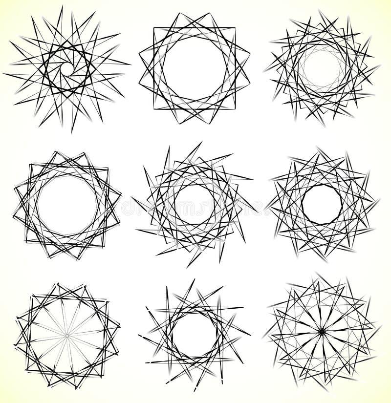 Download Геометрические вращая элементы - радиальные формы Спираль, Elem вортекса Иллюстрация вектора - иллюстрации насчитывающей способ, круг: 81804825