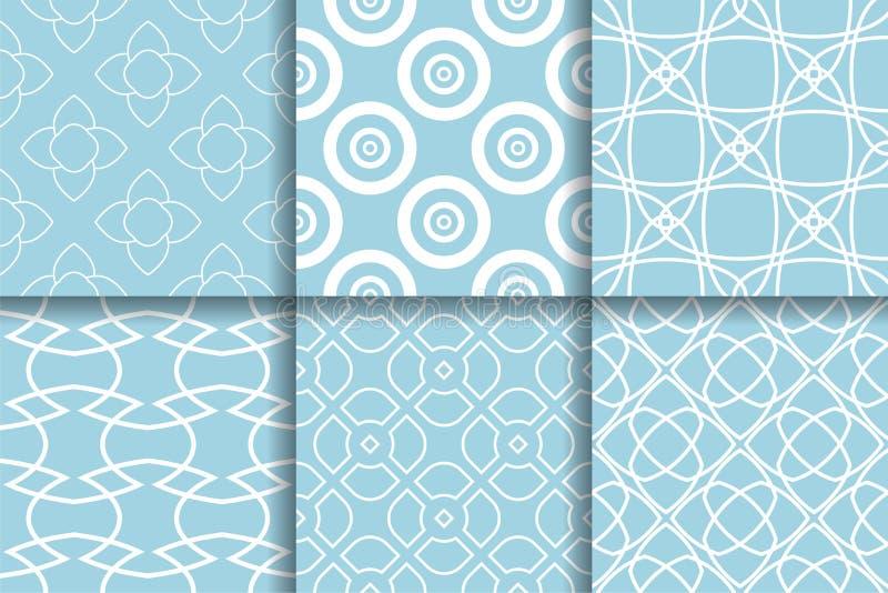 геометрические картины Собрание света - голубых безшовных предпосылок иллюстрация штока