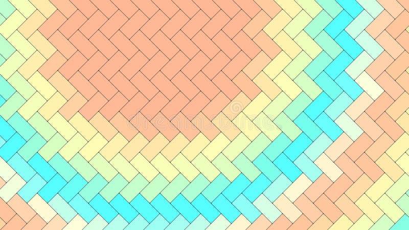 Геометрические кирпичи прямоугольников текстуры - светлые красные же иллюстрация вектора