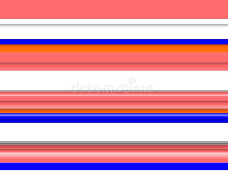 Геометрические оранжевые голубые линии предпосылка цветов Волны как формы, абстрактная предпосылка иллюстрация вектора