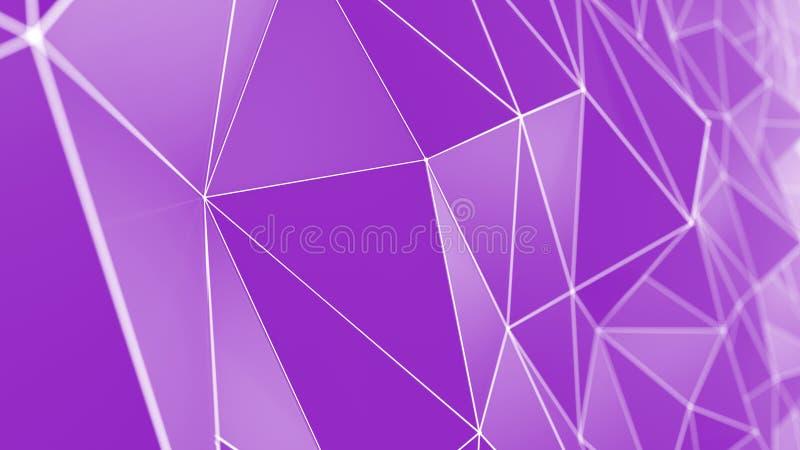 Геометрические полигоны с решеткой сетки резюмируют предпосылку бесплатная иллюстрация