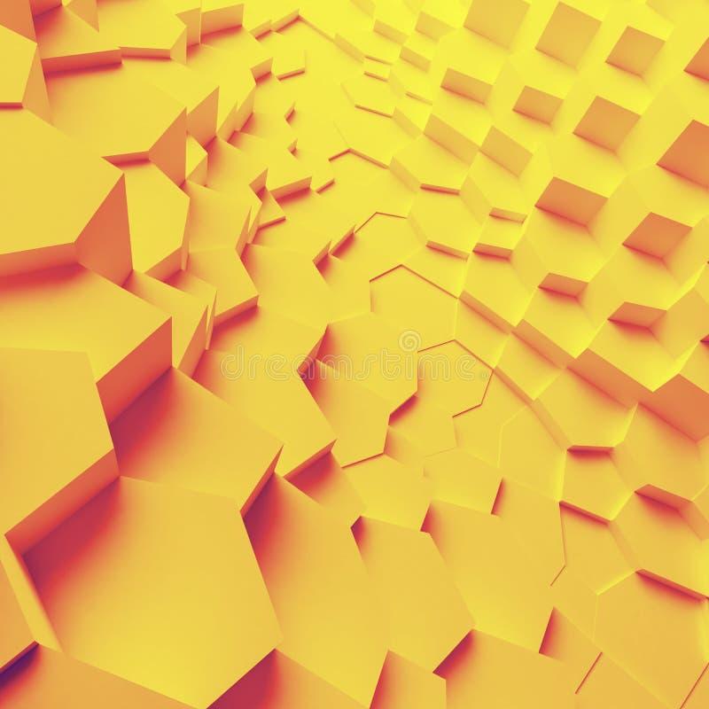 Геометрические полигоны конспекта цвета, как великолепная стена иллюстрация штока