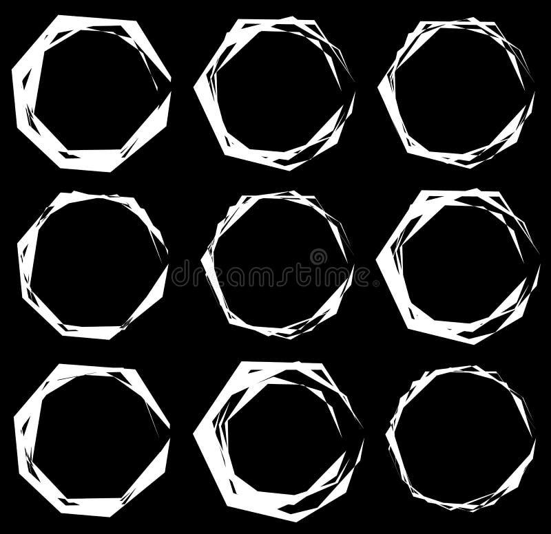 Download Геометрические рамки Комплект нервных геометрических круговых рамок Иллюстрация вектора - иллюстрации насчитывающей включите, форма: 81807105