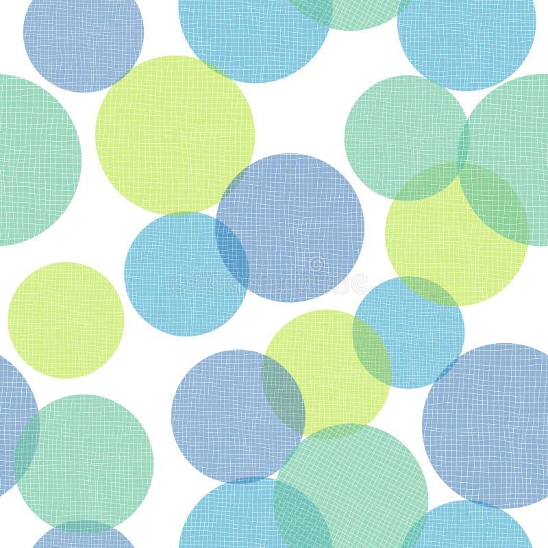 Геометрические текстурированные круги печатают предпосылку вектора картины повторения иллюстрация штока