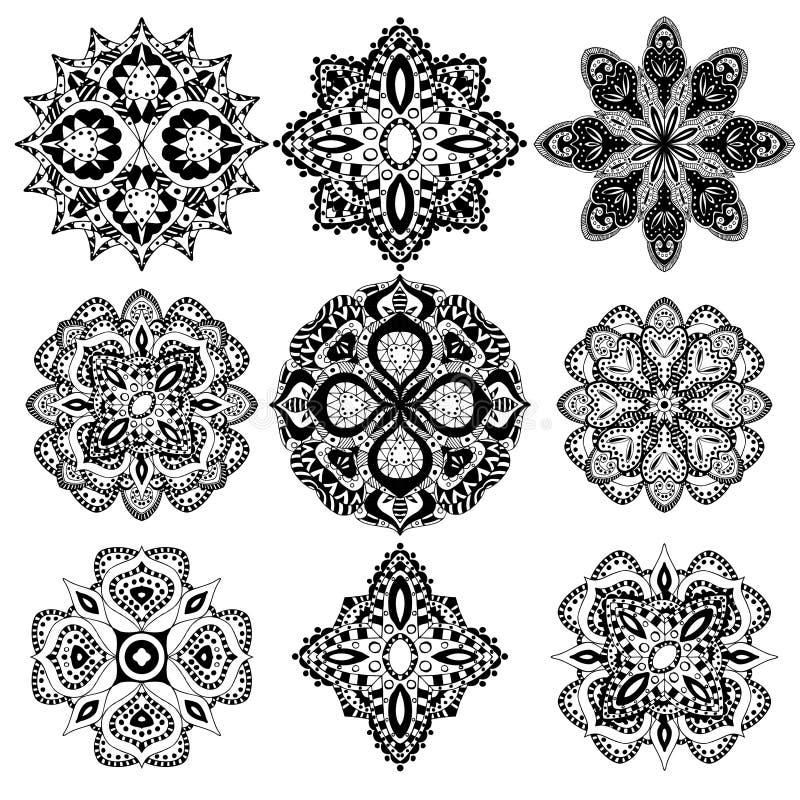 Геометрические установленные орнаменты бесплатная иллюстрация