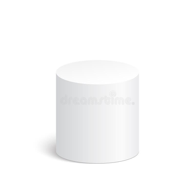 Геометрические формы, цилиндр 3d иллюстрация штока