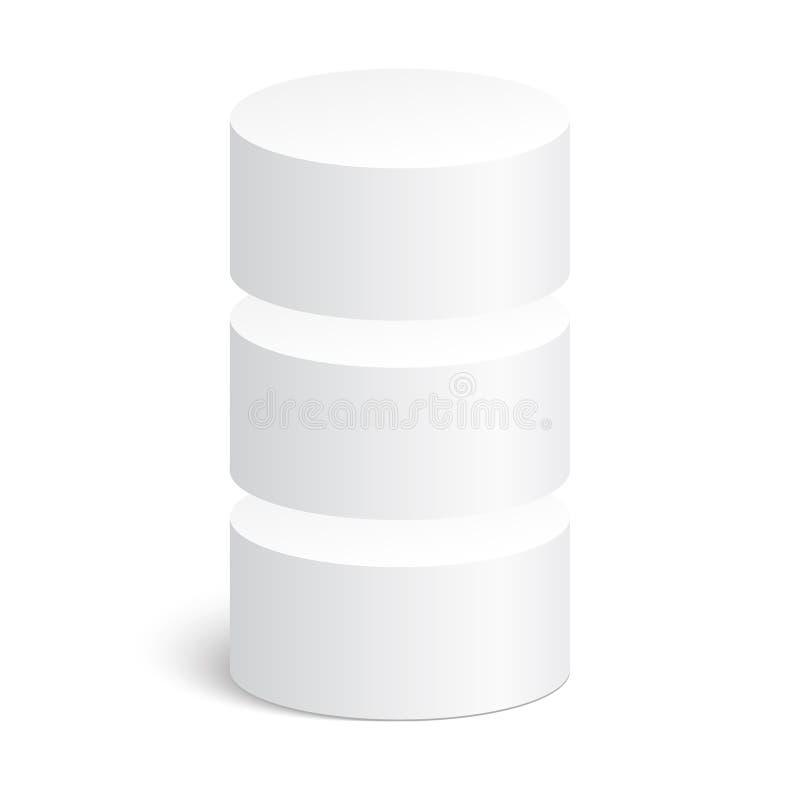 Геометрические формы, цилиндр 3d иллюстрация вектора