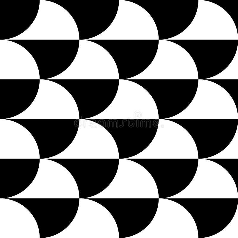 Download Геометрические черно-белые картина/предпосылка Плавно Repea Иллюстрация вектора - иллюстрации насчитывающей конспектов, непрерывно: 81813693