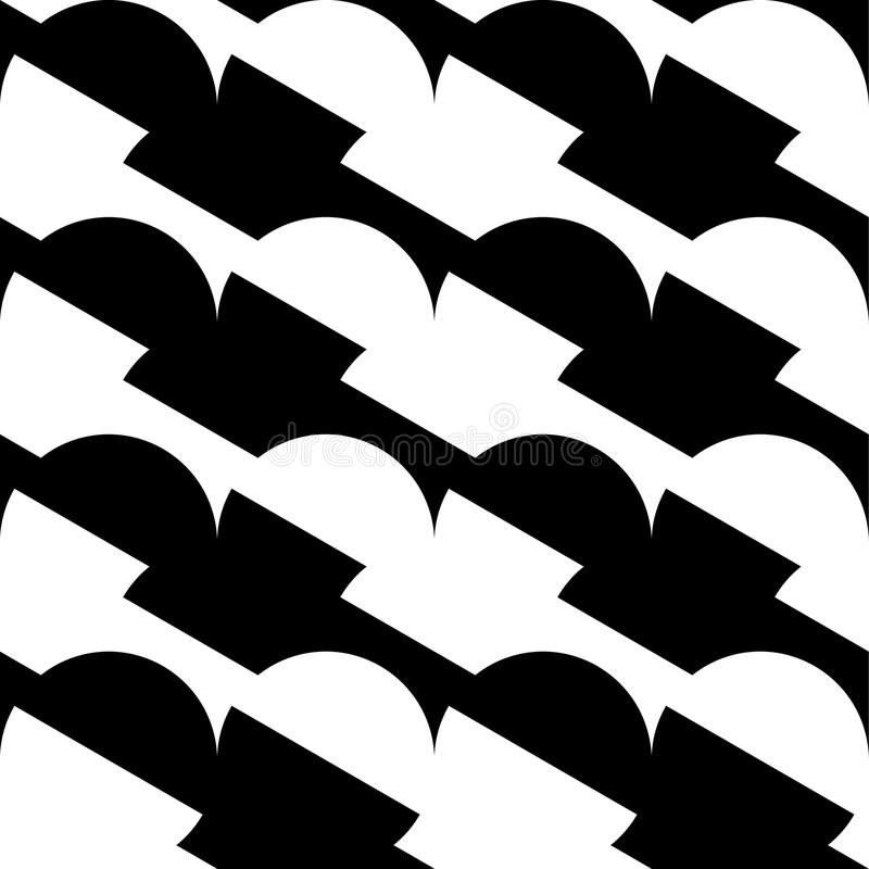 Download Геометрические черно-белые картина/предпосылка Плавно Repea Иллюстрация вектора - иллюстрации насчитывающей скачками, monochrome: 81813697